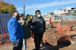 La Intendencia de Montevideo gestiona acciones para estar cerca de vecinas y vecinos durante el proceso de obra del Ferrocarril Central