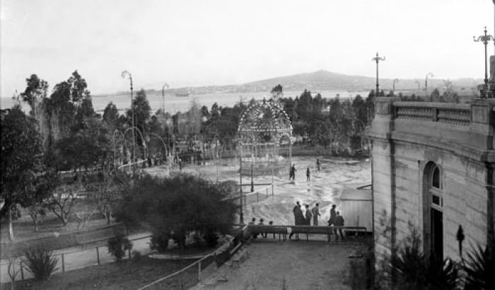 Parque Capurro y Cerro de Montevideo. Año 1916. (Foto 1036 FMH.CMDF.IMM.UY)