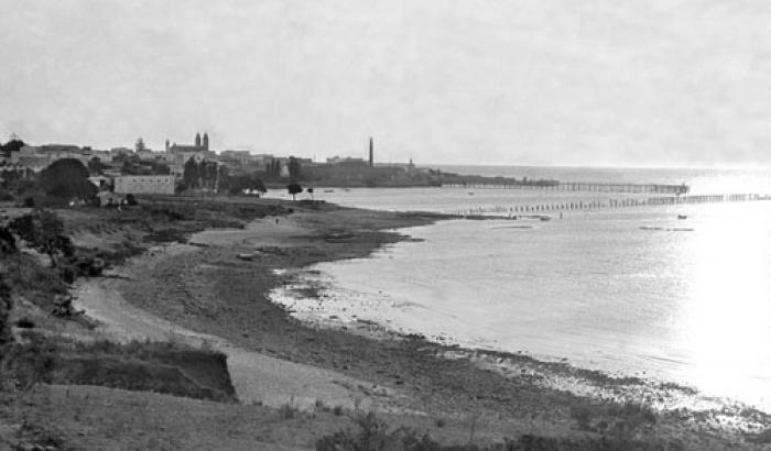 Playa Capurro. Año 1918. (Foto 1789 FMH.CMDF.IMM.UY)