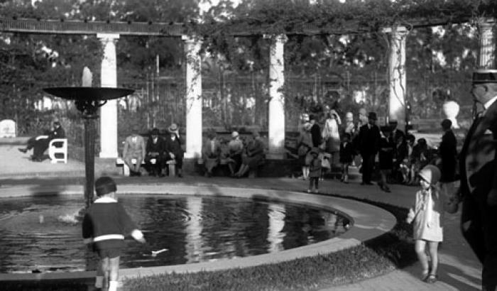 Rosaleda, Parque Prado. Año 1924. (Foto 5290 FMH.CMDF.IMM.UY)