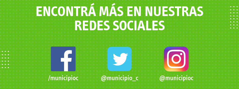 Visitá nuestras redes sociales: Facebook, Twitter e Instagram