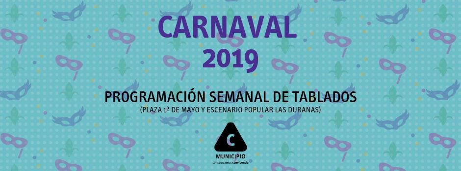 Programación semanal del Tablado Plaza 1º de Mayo y Las Duranas